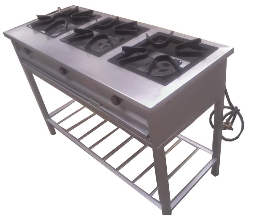 Cocina 3 quemadores centrogas for Medidas de cocina industrial